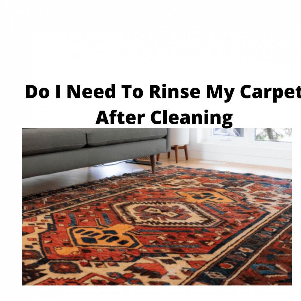 Do You Need To Rinse My Carpet After Cleaning?