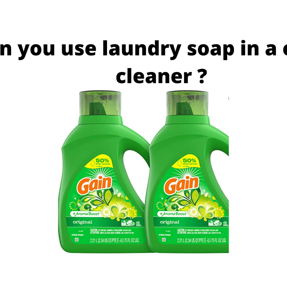 Can you use laundry soap in a carpet cleaner?